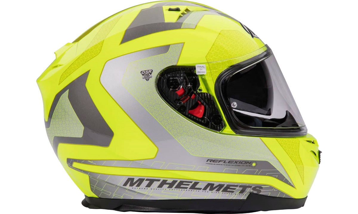 Styrthjelm fullface m/solbrille MT Blade SV neon gul str. XXL
