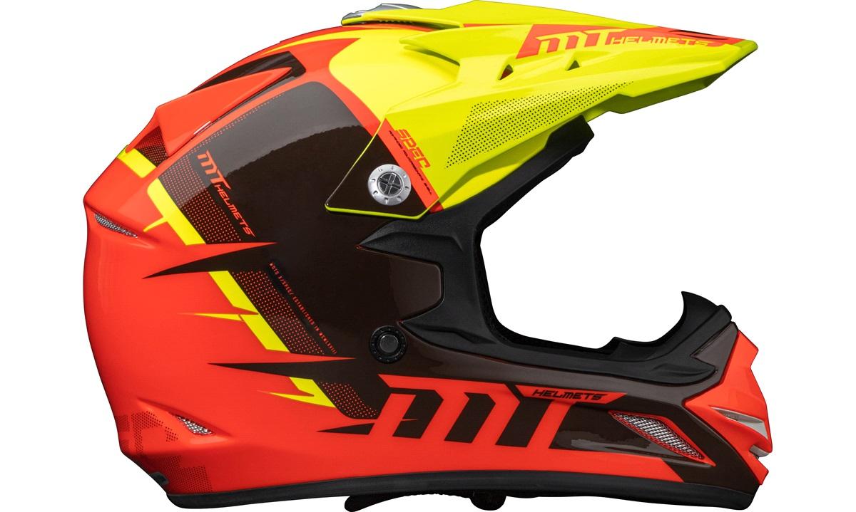 Crosshjelm MT MX2 Kids Orange/gul str. M (51-52)