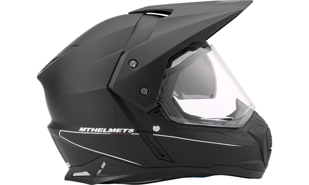 Enduro hjelm m/solbrille MT Synchrony Duo Sport SV matsort str. XS