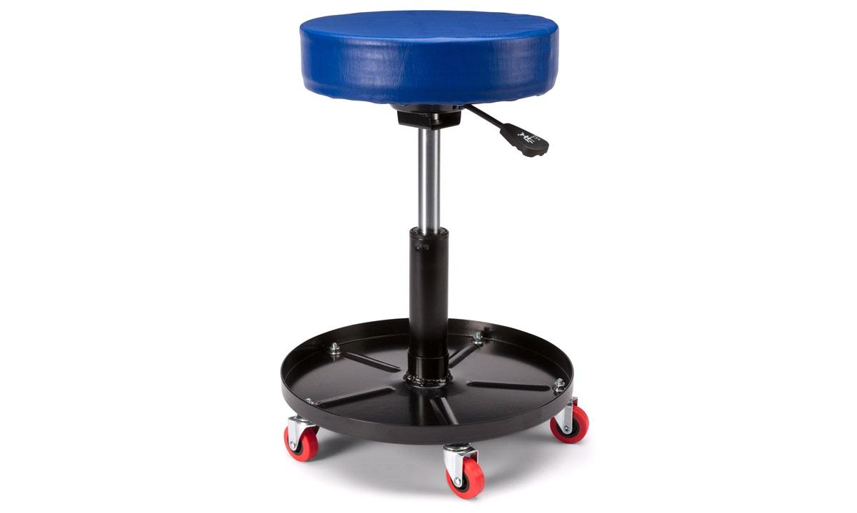 Verkstedstol med hjul, justerbar høyde