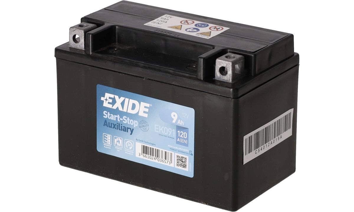 Startbatteri - EK091 - Start-Stop Auxiliary - (Exide)