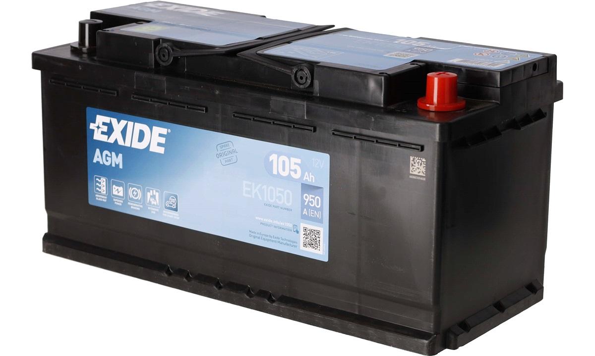 Startbatteri - EK1050 - Start-Stop AGM - (Exide)