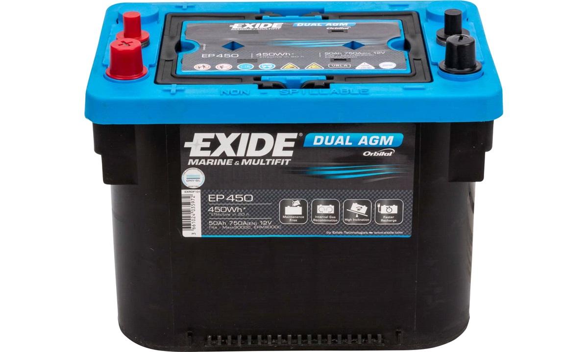 Startbatteri - EP450 - EXIDE DUAL AGM - (Exide)