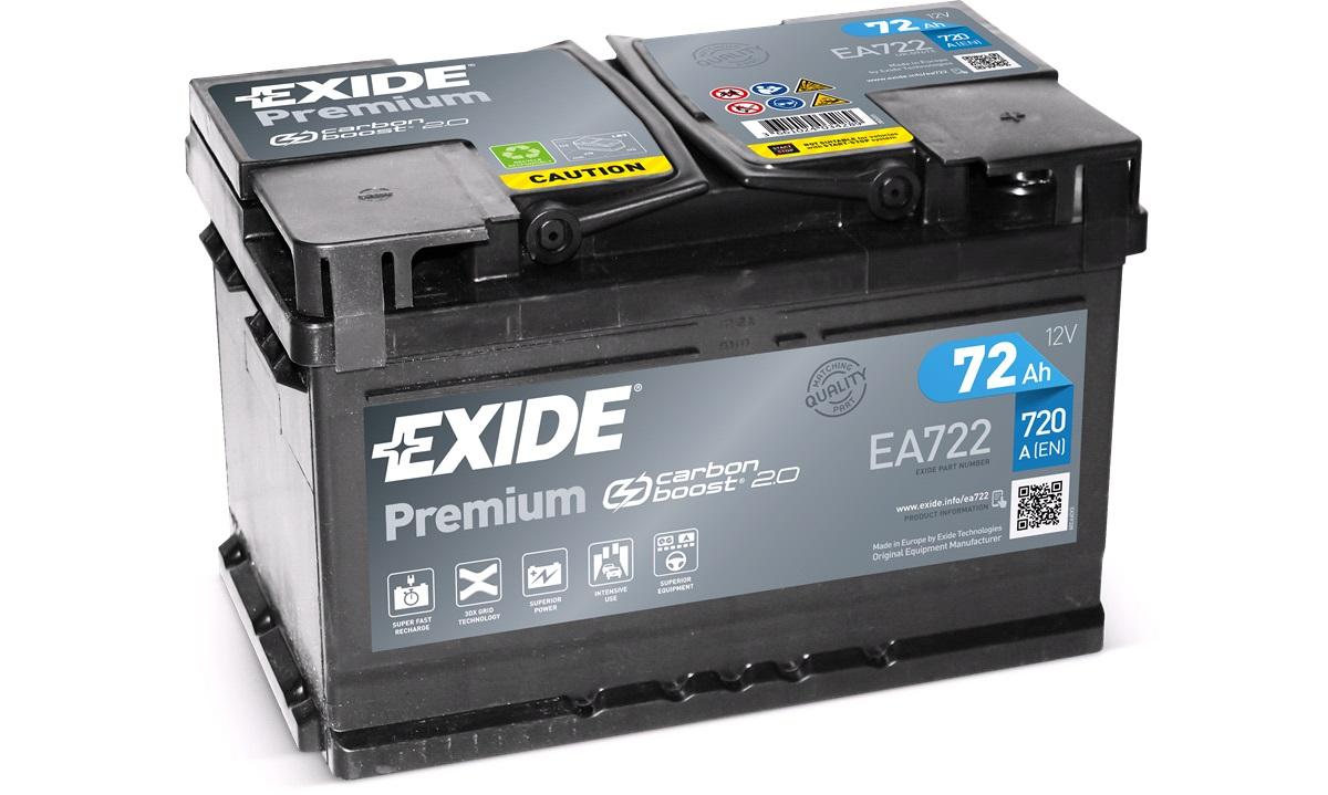 Startbatteri - _EA722 - PREMIUM * - (Exide)