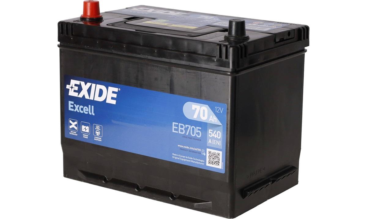 Startbatteri - _EB705 - EXCELL ** - (Exide)