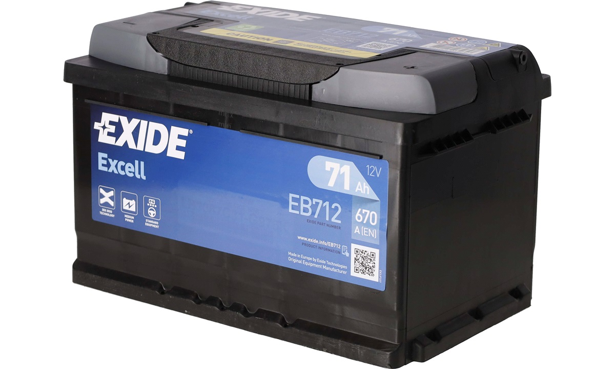 Startbatteri - _EB712 - EXCELL ** - (Exide)