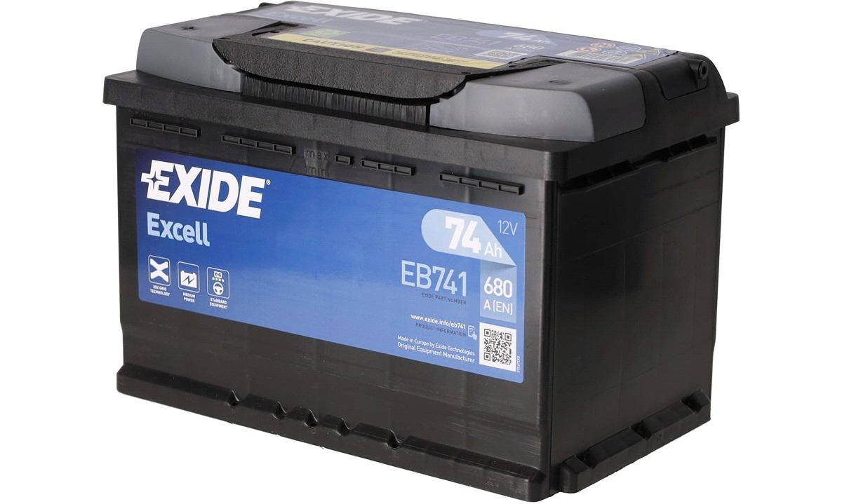 Startbatteri - _EB741 - EXCELL ** - (Exide)