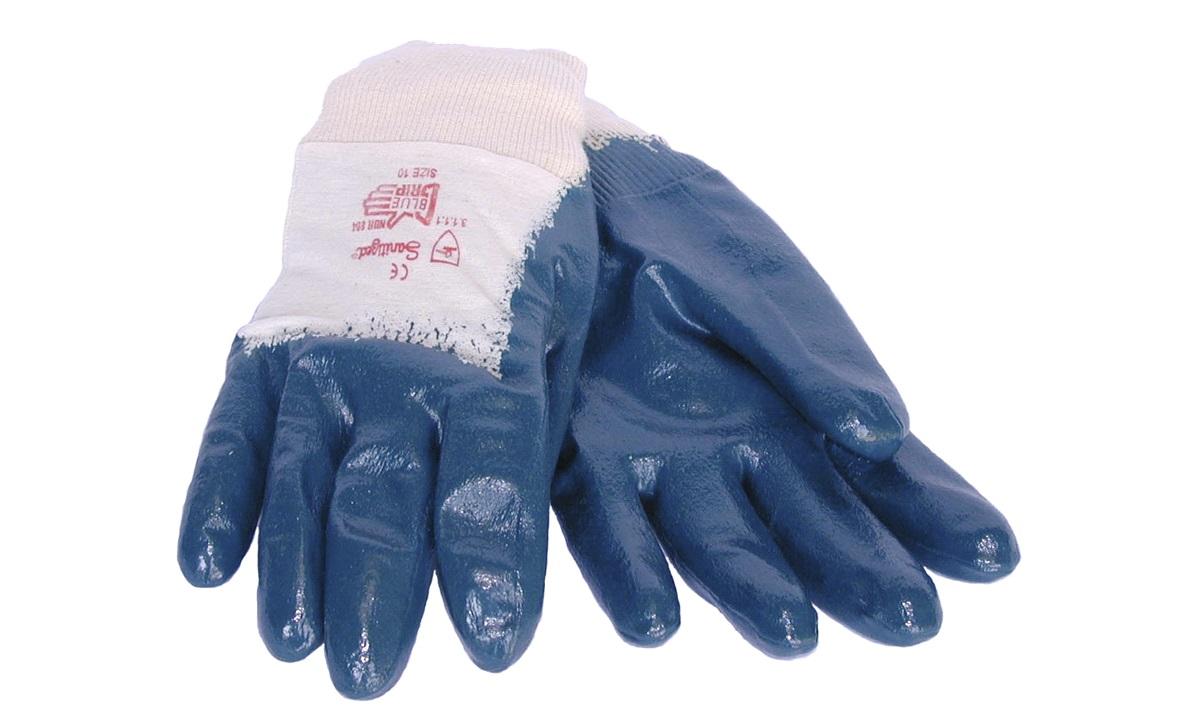 DYBBETHANDSKER GUMMI BLUE GRIP STR 7