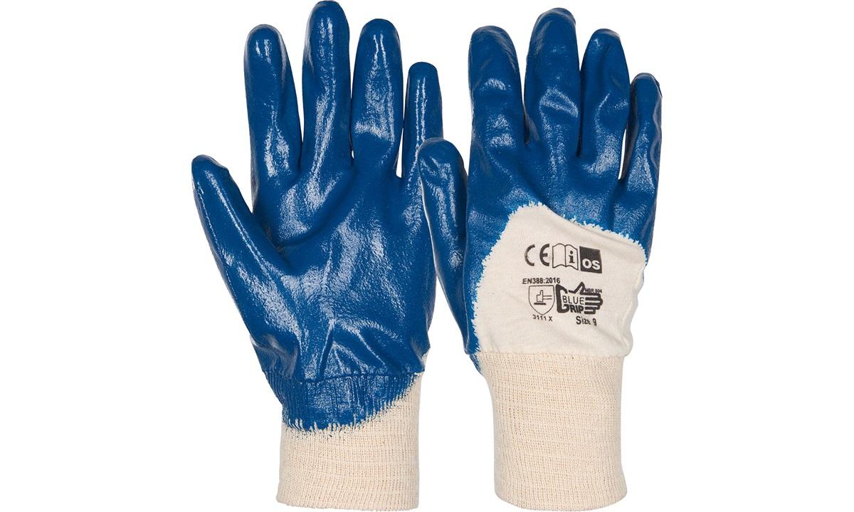 DYBBETHANDSKER GUMMI BLUE GRIP STR 11