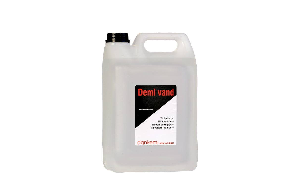 Demineraliseret vand 5 liter