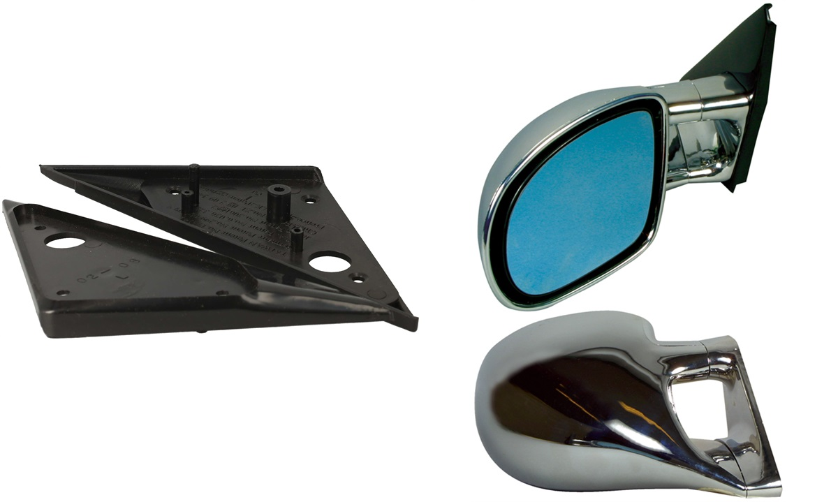 Sportsspejlssæt Passat 97- , Chrome